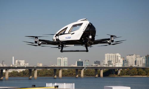 The EHang 216 autonomous aerial vehicle.